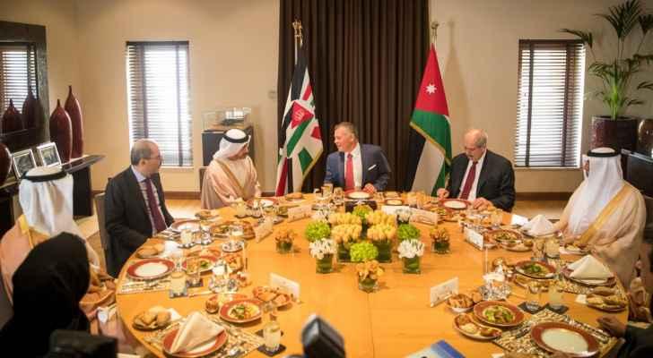 الملك يؤكد على أهمية توسيع حجم الاستثمارات الإماراتية في الأردن