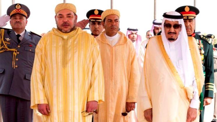 العاهل السعودي يستقبل ملك المغرب بطنجة