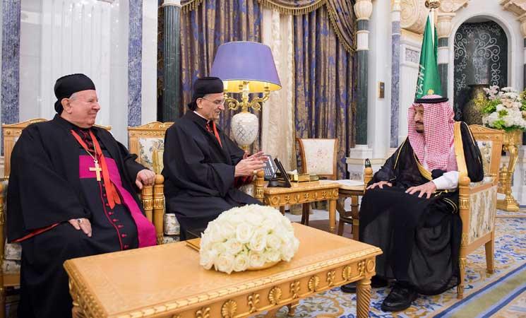 """الملك سلمان والبطريرك الراعي يؤكدان على دور الأديان في """"نبذ الارهاب"""""""