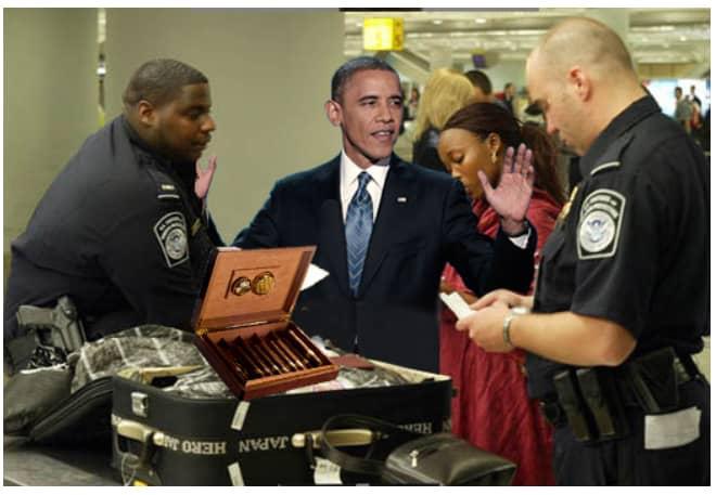 اوباما في قبضة الجمارك