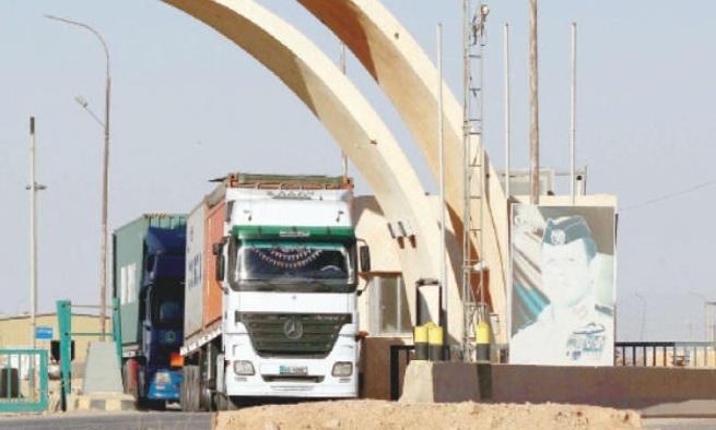 السماح للشاحنات الأردنية دخول الأراضي العراقية