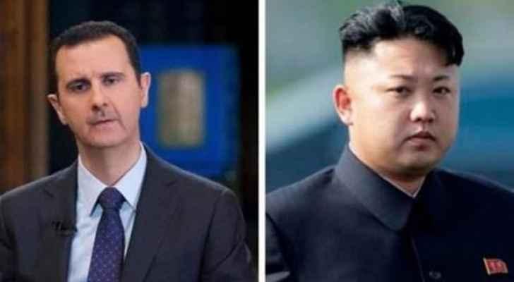 """الأسد يهدي الورد لكيم عقب """"الضربة الثلاثية"""""""