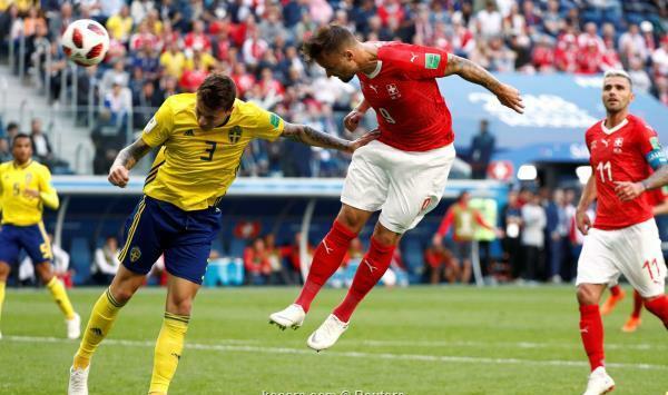 السويد تطيح بسويسرا في طريقها لربع نهائي المونديال