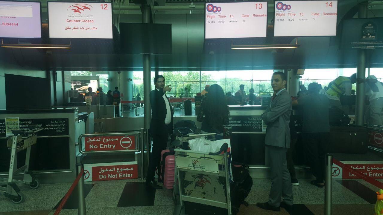 مطار الشارقة يطلق اول رحلة الى عمان