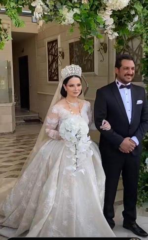 لقطات من حفل اشهار زواج ديانا كرزون ومعاذ العمري  ..  صور