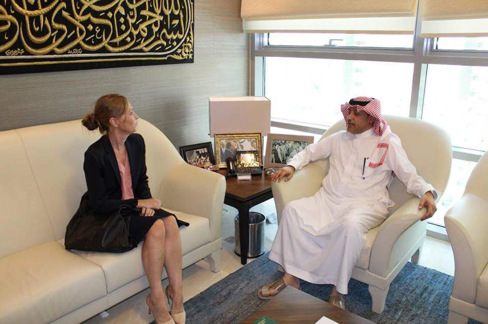 سفير السعودية لدى الأردن يستقبل سفيرة مملكة النرويج في عمّان