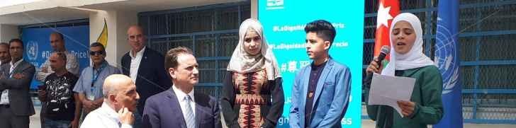 المفوض العام للأونروا يفتتح العام الدراسي للوكالة في عمان