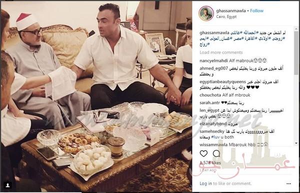 غسان المولى يعود الى طليقته