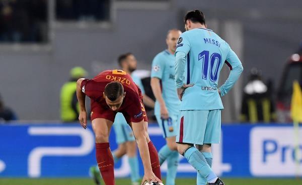 زلزال في الأولمبيكو ..  روما يقصى برشلونة من ربع نهائي دوري أبطال اوروبا