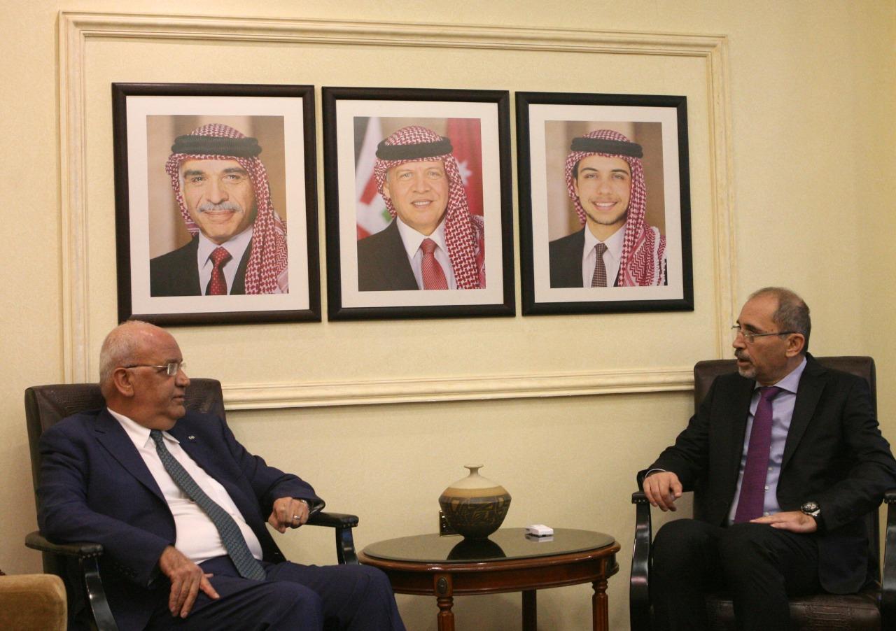 الصفدي يناقش مع عريقات كسر الجمود في عملية السلام
