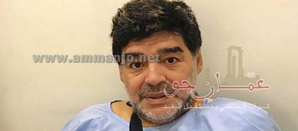 مارادونا يجري عملية جراحية لكتفه في دبي