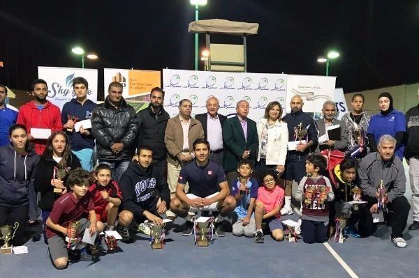 اختتام منافسات كأس الأردن للتنس