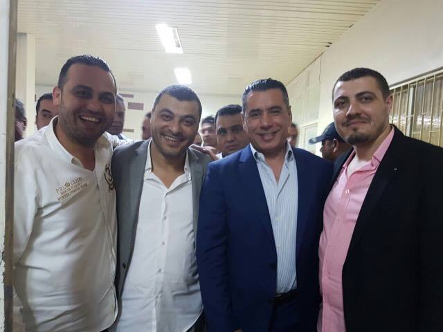 ابو شقره ورفاقه يقدمون التهاني لرئيس نادي الوحدات
