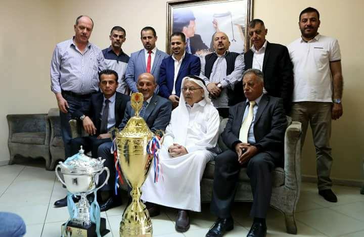 رئيس النادي الفيصلي يستقبل وفد نادي اهلي الخليل الفلسطيني