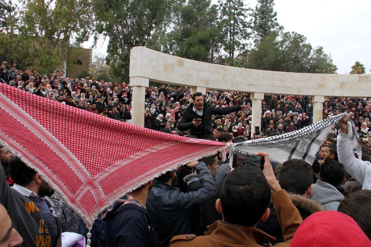 وقفات احتجاجية في الجامعات الأردنية نصرة للقدس (صور)