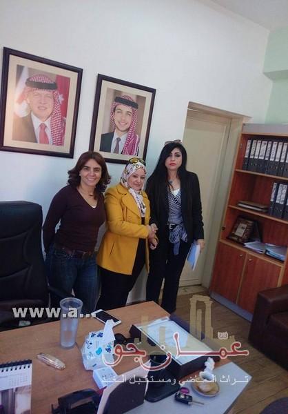 ابرام اتفاقية بين سيدة الأعمال المهندسة هيام البدوان وقسم شؤون المرأة التابع لأمانة عمان الكبرى