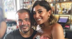 عمرو دياب ودينا الشربيني يلتقيان لأول مرة منذ انفصالهما وهكذا استفزته هي